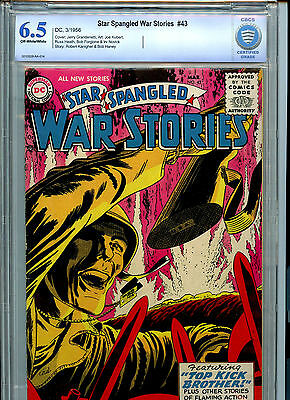 Star Spangled War Stories  #43 DC Comics Silver Age CBCS Graded 6.5 FN+ 1956