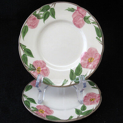 Franciscan Desert Rose Bread Butter Plates Made in USA Cream Pink Roses six