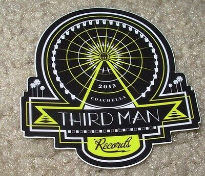 THIRD MAN RECORDS Sticker COACHELLA Rolling Store decal New Stripes Jack White