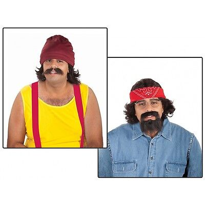 Cheech and Chong Costume Kits Adult Funny 70s Halloween Fancy Dress