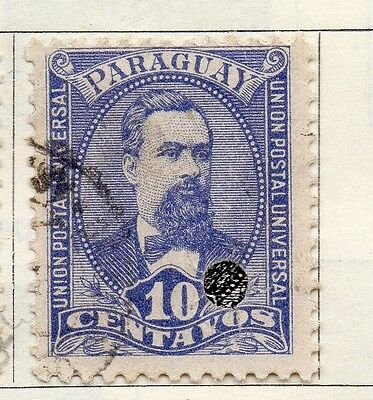 Paraguay 1892 Early Issue Fine Used 10c. 036854