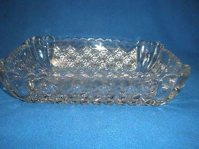 Retro Glass Patterned Serving Dish