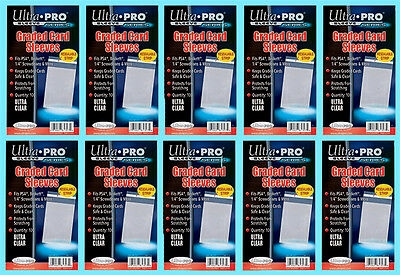 1000 ULTRA PRO GRADED RESEALABLE CARD Sleeves PSA Beckett Poly Slab Bags Pack