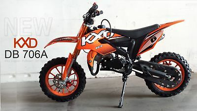 Dirt Bike / Pocket Cross - KXD-706 A - 10 Zoll Räder - rot