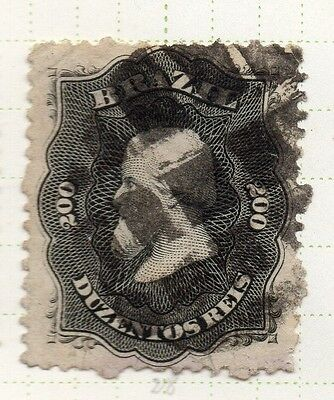 Brazil 1860s Dom Pedro Early Issue Fine Used 200r. 037039