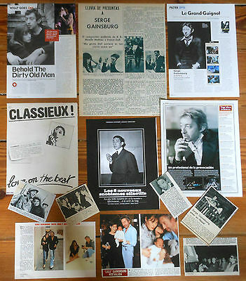 SERGE GAINSBOURG clippings 1960s/10s photos magazine articles Jane Birkin