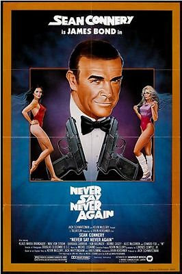 NEVER SAY NEVER AGAIN - 1983 - orig 27x41 folded US Movie Poster - SEAN CONNERY