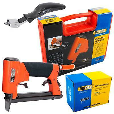 Professional Air Upholstery Stapler Gun with 20,000 10mm Staples Tacwise A7116V