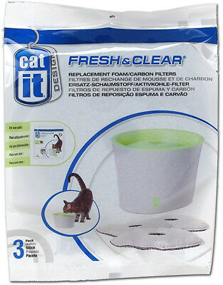 Catit Small Drinking Fountain Replacement Filters 3ct