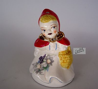 LITTLE RED RIDING HOOD PIE BIRD VENT w/ GOLD TRIM - SHIPS FREE