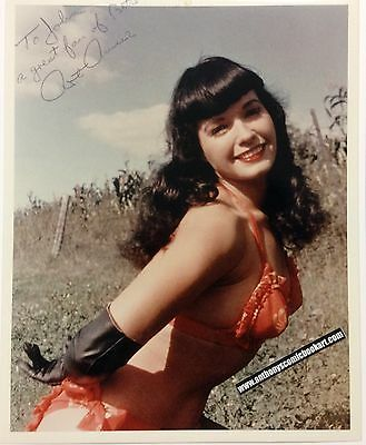 """Original Art Amsie """"Bettie Page"""" 8 X 10 photograph stamped signed (b.p.#03)"""