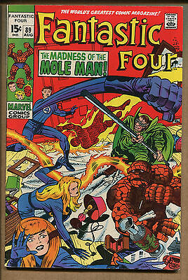Fantastic Four #89 - The Madness of the Mole Man! - 1969 (Grade 7.5) WH