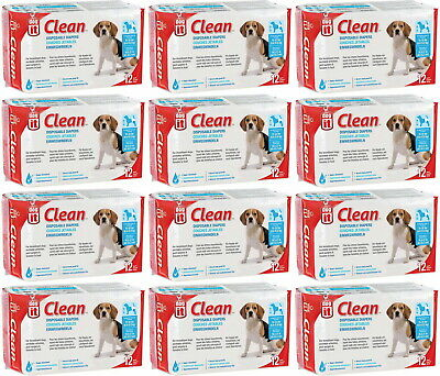 Dogit Clean Disposable Diapers Medium 144pk (12x12pk)