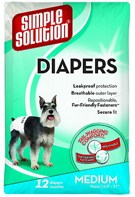 Simple Solution Disposable Diapers Medium 12ct