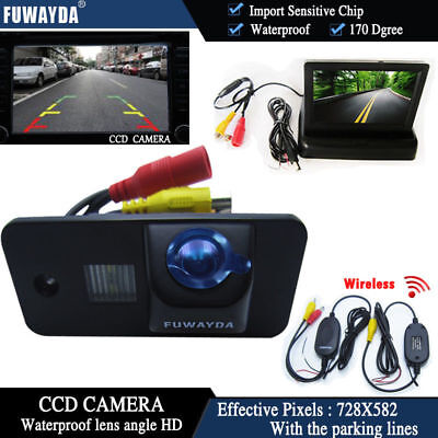 Wireless 4.3'' Monitor Car Reverse Camera for AUDI S3 A4 S4 A6 S6 A8 S8 RS6 Q7
