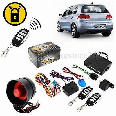 2 Remote One Way Car Engine Auto Alarm System Keyless Entry Central Door Locking