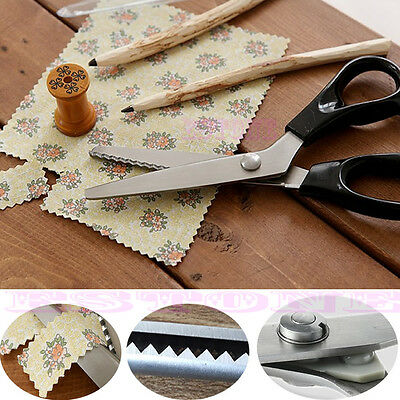 New Stainless Pro Zig Zag Pinking Sewing Cut Dressmaking Tailor Shears Scissors