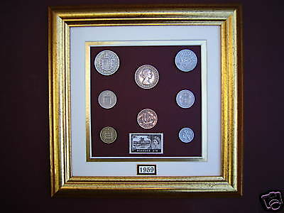 FRAMED 1959 COIN SET 58th BIRTHDAY / ANNIVERSARY GIFT IN 2017