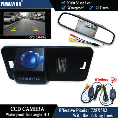 Wireless 4.3'' CCD Monitor Reverse Camera for BMW 1/3/5/6 Series X3 X5 X6 E39