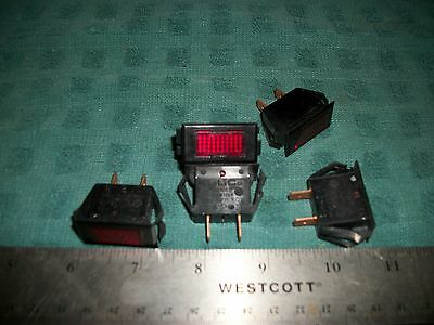 Lot Of Snap-In Mount 125V 1/3W Solico Rectangular Red Indicators! S