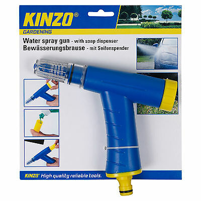 Kinzo Multi Functional Water Spray Gun With Soap Dispenser Car Cleaning Garden