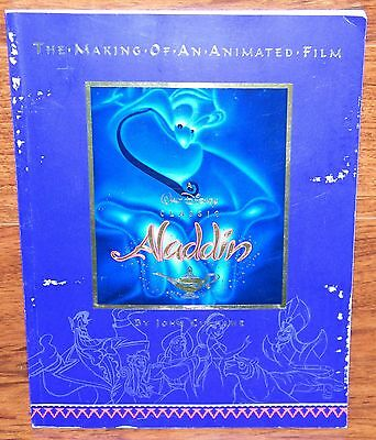 Vintage the Making of an Animated Film Walt Disney Classic Aladdin Book 1992!
