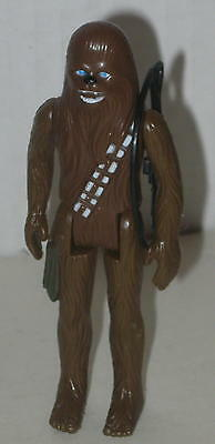 "1977 Chewbacca Action Figure by Kenner 4 1/8"" Tight Joints Has Weapon"