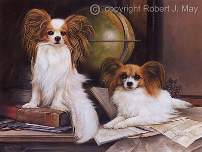 Original Papillon Painting by Robert May