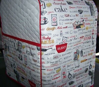 Baking Cooking Supplies Quilted Fabric Cover for KitchenAid Mixer NEW