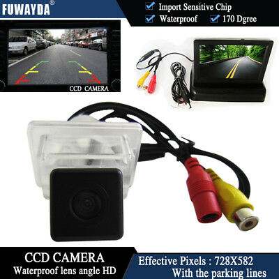 "4.3""Foldable CCD Monitor Reverse Camera for Mercedes-Benz C E S CLASS CL CLASS"