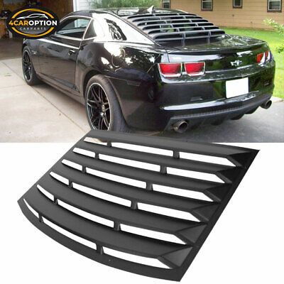 Fits 10-15 Chevrolet Camaro Rear Window Louver Unpainted Black - PUR