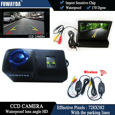 Wireless 4.3'' Monitor Car Reverse Camera for Peugeot 206 207 306 307 308 406