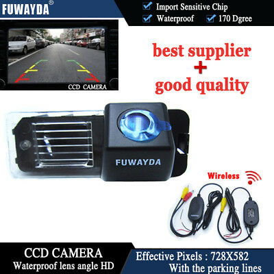 Wireless CCD Reverse Rear View Camera for VW Volkswagen Polo V Golf 6 VI
