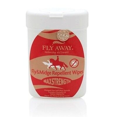 FLY AWAY MAX STRENGTH 40 WIPES horse care, natural insect fly repellent