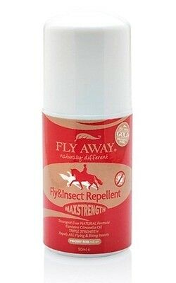 FLY AWAY MAX STRENGTH 50ML ROLL-ON natural fly repellent horse pest control