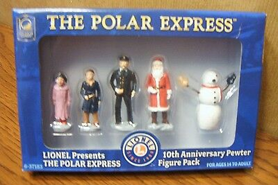 LIONEL TRAINS THE POLAR EXPRESS 10th ANNIVERSARY PEWTER FIGURE PACK