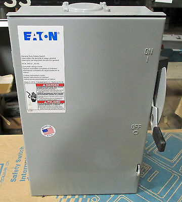 O Cutler Hammer 60 amp Safety Switch Disconnect DG222NRB 3R