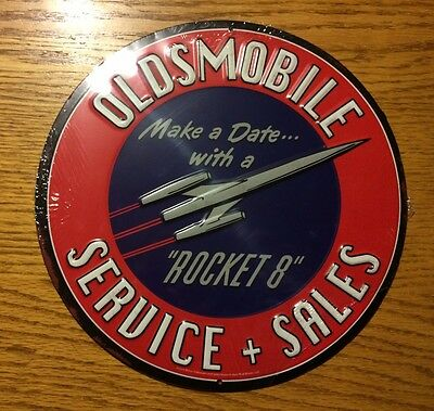Oldsmobile Service Sales Sign Make a Date with a Rocket 8 New Design