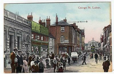 Early    LUTON  George Street   Bedford  Postcard