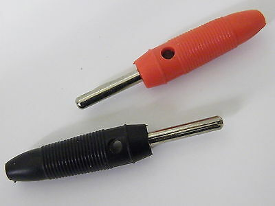 2 Pcs 4mm Plugs High Quality 20A Stackable Supplied 1each Red /& Black  EA11