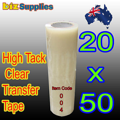 20cmx50m High Tack Clear Transfer Tape / Application Tape for Sign Vinyl Sticker
