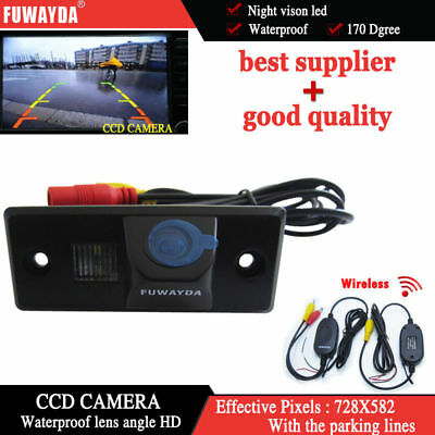Wireless CCD Rear View Reverse Back up  Camera for VW Skoda Fabia Tiguan Touareg