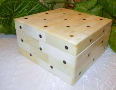Old Chinese Hand Carved Polka Dots Box