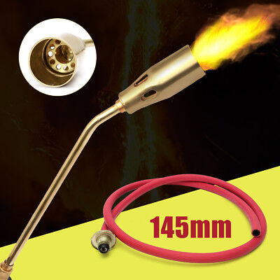 Handle Soldering Weld Blow Torch Liquefied Gas Piezo Lighter Tube Fire Burner
