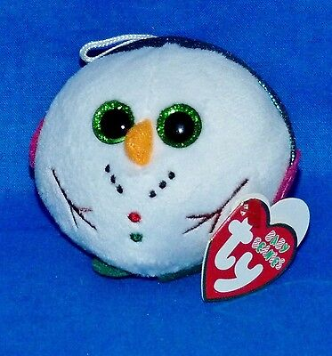"Ty CHILLY Snowman Ornament (3"") Ballz (Baby Beanies) Jingle 2013 Boy Girl 3+MWMT"