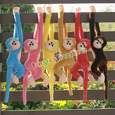 Baby Kids Soft Colorful Plush Toys Cute Monkey Doll Gibbons Animal Gifts Cuddly