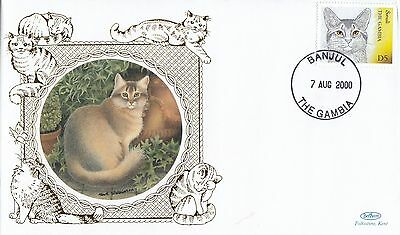 (80909) CLEARANCE Gambia Benham FDC Cats - 7 August 2004