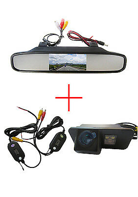 Wireless 4.3'' CCD Monitor Reverse Camera for  FORD MONDEO/FIESTA/FOCUS/S-Max