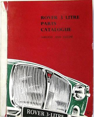 ROVER 3 Litre Saloon, Coupe - Car Parts List - #No.4825, #No.435A - January 1967