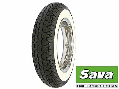 SAVA White wall Tyre 3.5 x 10 Front or Rear